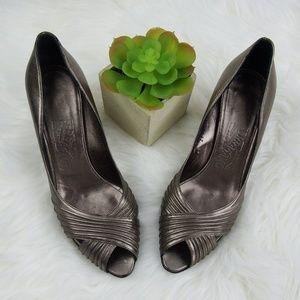 145d9e78c Salvatore Ferragamo Shoes | Green Leather Pumps | Poshmark